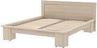 Двуспальная кровать 3Dom Слим-Практик СП007 (акация молдавская) -