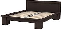 Двуспальная кровать 3Dom Слим-Практик СП007 (каштан венге) -