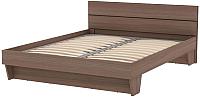 Двуспальная кровать 3Dom Слим-Практик СП002-1600 (орех грецкий) -