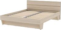 Двуспальная кровать 3Dom Слим-Практик СП002-1600 (акация молдавская) -