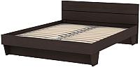 Двуспальная кровать 3Dom Слим-Практик СП002-1800 (каштан венге) -
