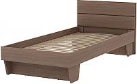 Односпальная кровать 3Dom Слим-Практик СП003 (орех грецкий) -