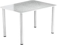Обеденный стол Васанти Плюс ПРФ 120x80 (белый/Капли белые) -