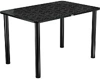 Обеденный стол Васанти Плюс ПРФ 110x70 (черный/Жасмин Ч) -