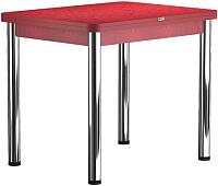 Обеденный стол Васанти Плюс ПРД 80x60/120 РШ/ОКр (хром/красный) -
