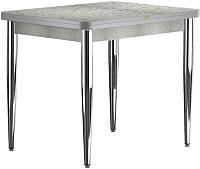 Обеденный стол Васанти Плюс ПРД 90x70/140 РШ/к/ОА (хром/алюминий) -