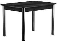 Обеденный стол Васанти Плюс БРП 110/142x70 Р/ОЧ (черный/черный) -