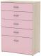 Комод 3Dom Слимпи СП582 (акация молдавск/фламинго розовый) -