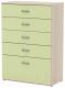 Комод 3Dom Слимпи СП582 (акация молдавская/зеленый лайм) -