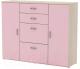 Комод 3Dom Слимпи СП583 (акация молдавск/фламинго розовый) -