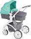 Детская универсальная коляска Lorelli Vista Green&Grey Cities (10020971748) -