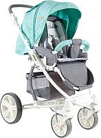 Детская прогулочная коляска Lorelli S-700 Green&Grey Cities (10020941748) -