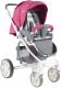 Детская прогулочная коляска Lorelli S-700 Rose&Grey Cities (10020941749) -