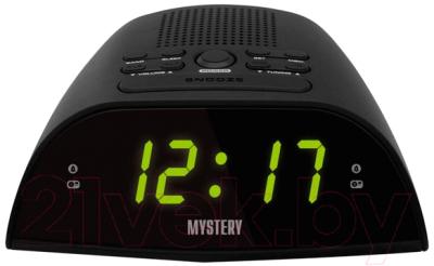 Радиочасы Mystery MCR-48 (черный/зеленый)