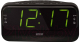 Радиочасы Mystery MCR-68 (черный/зеленый) -