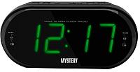 Радиочасы Mystery MCR-69 (черный/зеленый) -