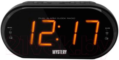 Радиочасы Mystery MCR-69 (черный/янтарь)