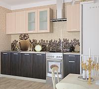 Готовая кухня Интерлиния Мила 20 (дуб молочный/дуб венге) -
