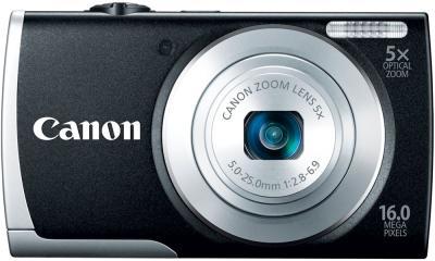 Компактный фотоаппарат Canon PowerShot A2600 Black - вид спереди