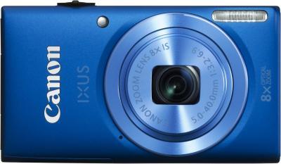 Компактный фотоаппарат Canon DIGITAL IXUS 135 (синий) - вид спереди