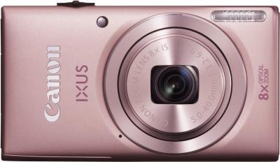 Компактный фотоаппарат Canon DIGITAL IXUS 135 (розовый) - вид спереди