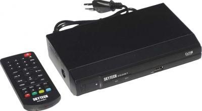 Тюнер цифрового телевидения Skytech 57G DVB-T - общий вид с пультом ДУ