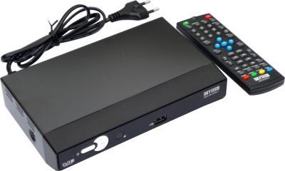 Тюнер цифрового телевидения Skytech 83G HDDVB-T - общий вид с пультом ДУ