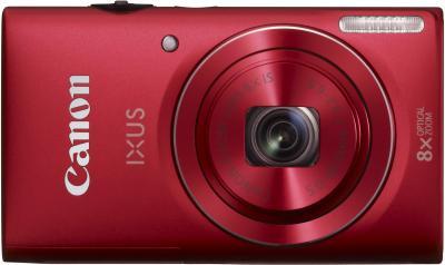 Компактный фотоаппарат Canon DIGITAL IXUS 140 (красный) - вид спереди