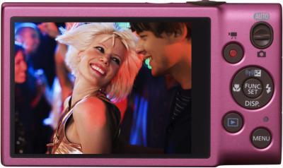 Компактный фотоаппарат Canon DIGITAL IXUS 140 (розовый) - вид сзади
