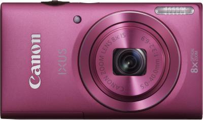 Компактный фотоаппарат Canon DIGITAL IXUS 140 (розовый) - вид спереди