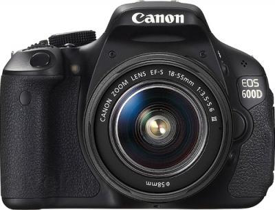 Зеркальный фотоаппарат Canon EOS 600D Kit 18-55mm III DC - вид спереди