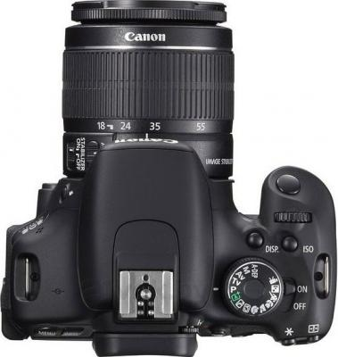 Зеркальный фотоаппарат Canon EOS 600D Kit 18-55mm III DC - вид сверху