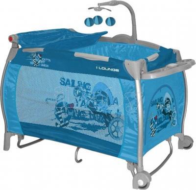 Кровать-манеж Lorelli I'Lounge 2 Rocker Blue Captain - общий вид