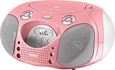 Магнитола BBK BX110U (розовый) - общий вид