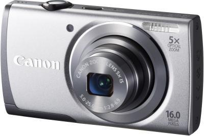 Компактный фотоаппарат Canon PowerShot A2600 Silver - общий вид