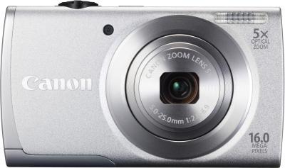 Компактный фотоаппарат Canon PowerShot A2600 Silver - вид спереди