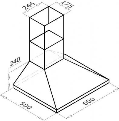 Вытяжка купольная Backer KH60A-F2 (черный глянец) - схема