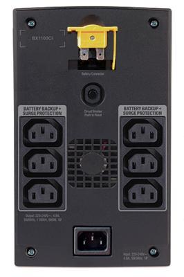 ИБП APC Back-UPS 1100VA (BX1100CI) - вид сзади