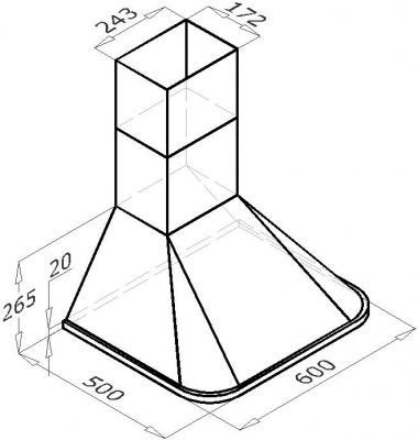 Вытяжка купольная Backer RH60A (белый) - схема