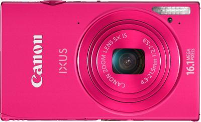 Компактный фотоаппарат Canon IXUS 240 HS Pink - вид спереди