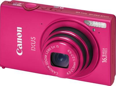 Компактный фотоаппарат Canon IXUS 240 HS Pink - общий вид