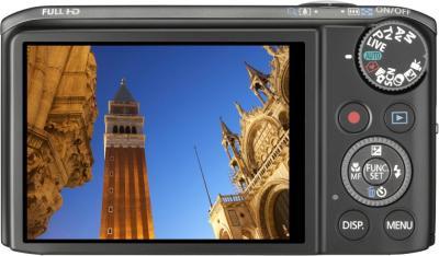 Компактный фотоаппарат Canon PowerShot SX260 HS Gray - вид сзади