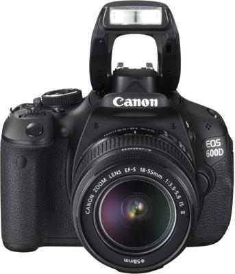 Зеркальный фотоаппарат Canon EOS 600D Double Kit 18-55mm III + 75-300mm III - вид спереди