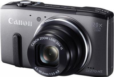 Компактный фотоаппарат Canon PowerShot SX270 HS Gray - общий вид
