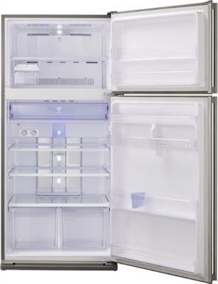 Холодильник с морозильником Sharp SJ-SC59PVBK - с открытой дверью