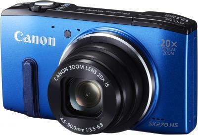 Компактный фотоаппарат Canon PowerShot SX270 HS Blue - общий вид