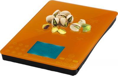 Кухонные весы Polaris PKS 0524DGN (оранжевый) - общий вид