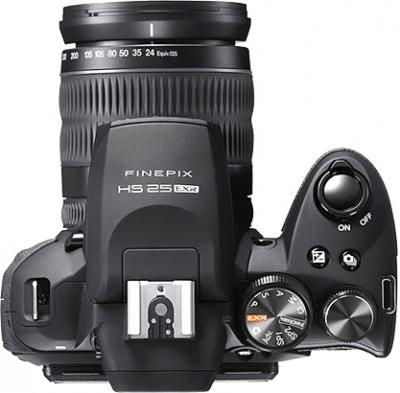 Компактный фотоаппарат Fujifilm FinePix HS25EXR Black - вид сверху