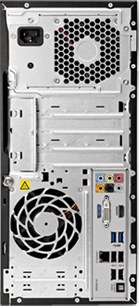 Системный блок HP 7500MT (A2K02EA) - вид сзади