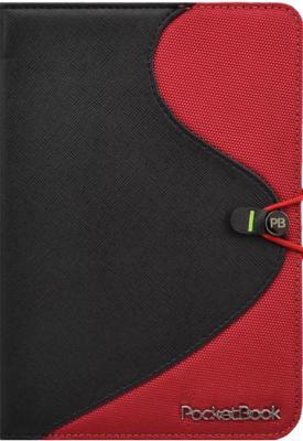 Обложка для электронной книги Vivacase S-style Lux Black-Red (Skin/Fabric) - общий вид